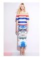 Mini jupe en coton imprimé Hawaï Px boutique 600€ Taille 36