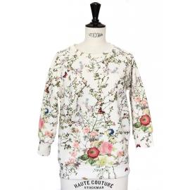 Pull Neoprène JAMES imprimé fleuri Prix boutique 280€ Taille 38
