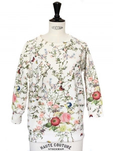 ROSEANNA Pull Neoprène JAMES imprimé fleuri Px boutique 280€ Taille 38