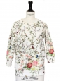 JAMES Floral print neoprene jumper Retail price €280 Size 38
