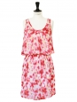 Pink and yellow printed silk LOUISON dress NEW Retail price €148 Size 36