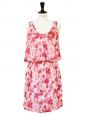Robe LOUISON en soie imprimée rose et jaune NEUVE Px boutique 148€ Taille 36