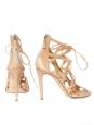 Sandales stilettos BOOMERANG en cuir beige nude Px boutique 1180€ Taille 40