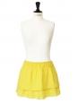 Yellow Swiss-dot cotton mini skirt Size 36/38
