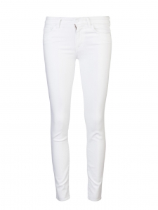 Slim cut white stretch denim pants Retail price €170 Size 38
