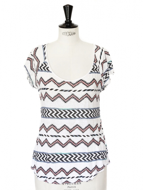 Aztec print short sleeves t shirt Size 36