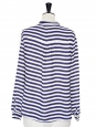 Chemise manches longues rayée bleu marine et blanche Taille 36/38
