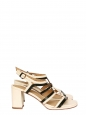 Black and cream white cutout leather sandals NEW Retail price €275 Size 39