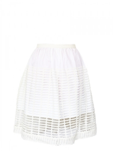 White cut-out cotton high waisted skirt NEW Retail price €800 Size 34