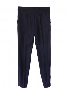 STELLA MCCARTNEY Pantalon slim fit en laine bleu nuit Px boutique 560€ Taille 36