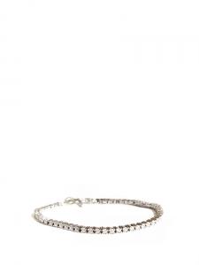 Bracelet fin en argent et cristaux