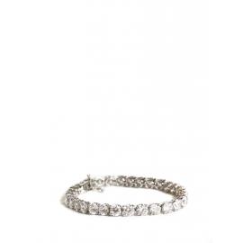 Bracelet fin en argent 925 serti de Burmalite Prix boutique 650€