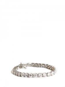 Silver bracelet with crystals