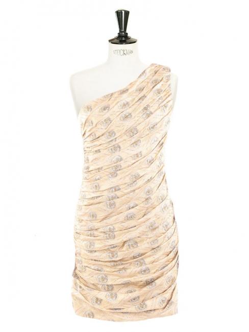 Robe de cocktail Couture en brocart doré brochée de fils d argent Px  boutique 1800 236c1daaa23