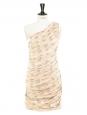 Robe de cocktail Couture en brocart doré brochée de fils d'argent Px boutique 1800€ Taille 34