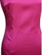 DOLCE & GABBANA Robe près du corps en satin de soie stretch rose fuchsia Px boutique 415€ Taille 36/38