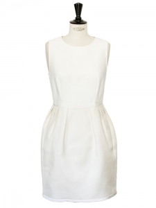White rayon and cotton hourglass dress Retail price €700 Size 38