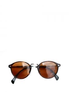 Lunettes de soleil GA 828 monture fine écailles et verres marrons Px boutique 175€