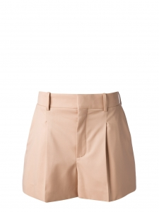 Pink beige pleated crepe shorts Retail price €490 Size 38