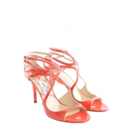 IVETTE Lance Orange coral patent leather sandals NEW Retail price €650 Size 40