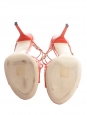Sandales IVETTE Lance en cuir verni orange corail NEUVES Px boutique 650€ Taille 40