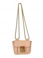 Sac ELSIE mini en cuir grainé beige rosé à bandoulière Px boutique 700€ NEUF