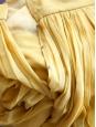 Jupe longue en mousseline de soie plissée jaune moutarde Px boutique 2200€ Taille 34