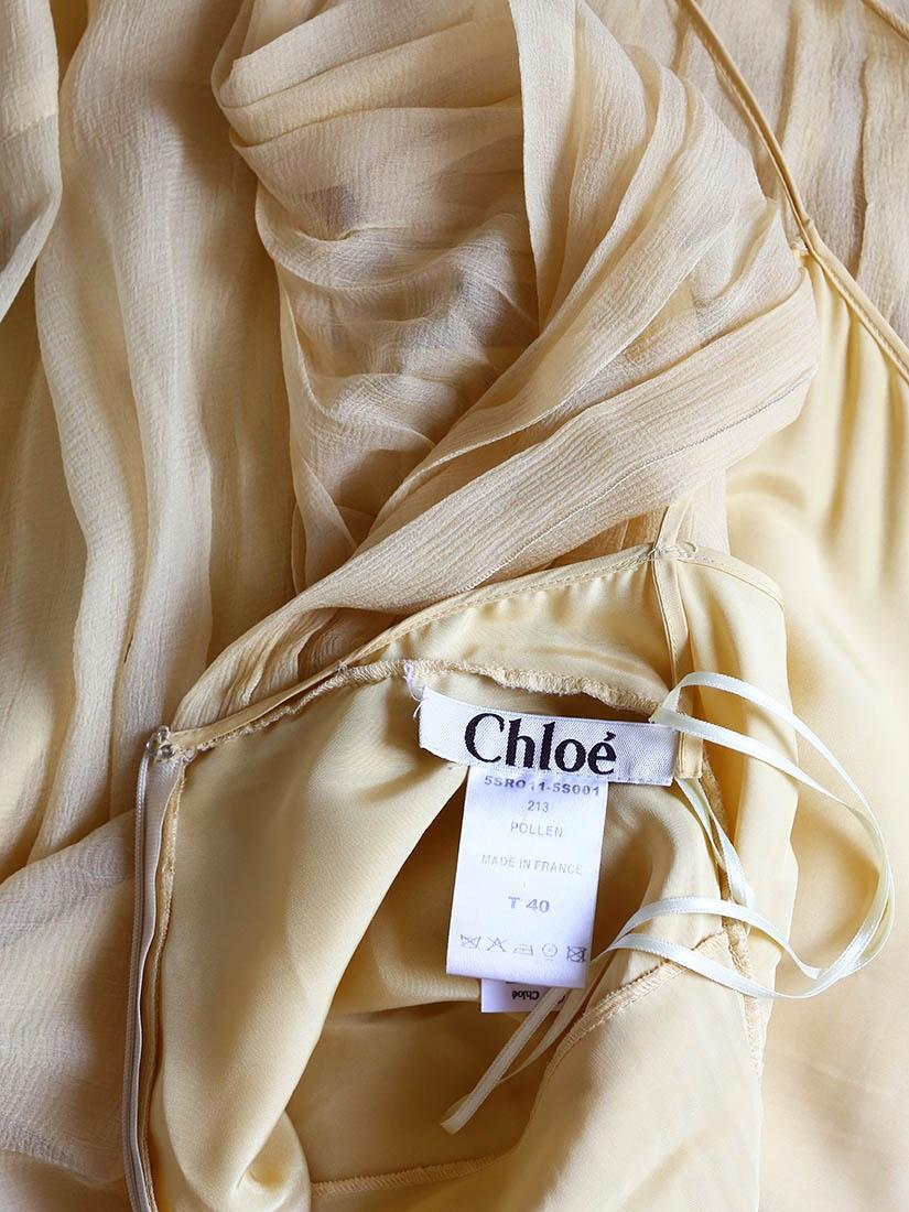 df36061050 Louise Paris - CHLOE Pollen yellow pleated silk chiffon open back ...