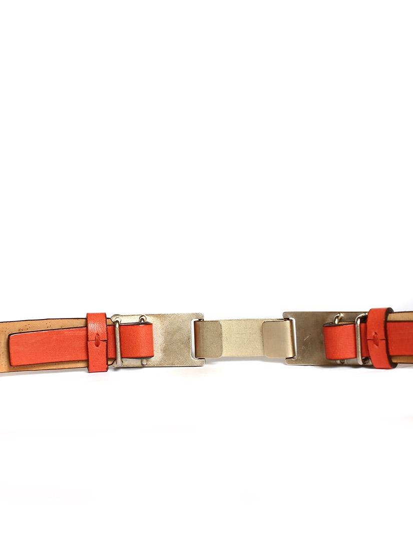 d1c9aeb75f79 ... Ceinture en cuir corail et studs cuivre et or Px boutique 400€ Taille XS  ...
