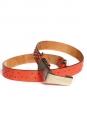 Ceinture en cuir corail et studs cuivre et or Px boutique 400€ Taille XS