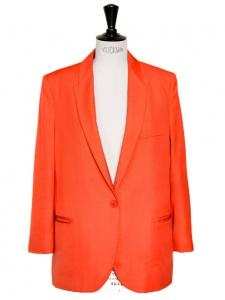 Veste blazer orange vif NEUF Px boutique 1100€ Taille 36