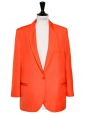 Bright orange blazer jacket NEW Retail price €1100 Size 36