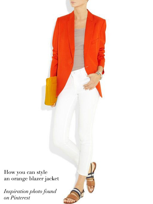Px Mccartney Stella Orange Paris Blazer Louise Boutique Veste Vif bfY7y6g