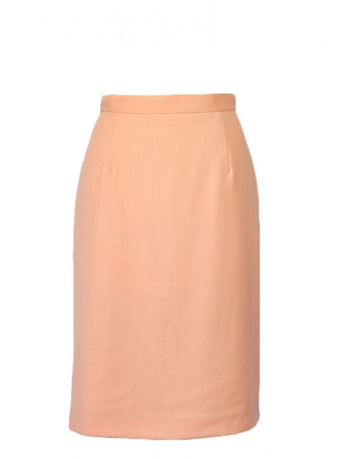 UNGARO Peach pink high waist pencil skirt Size XS
