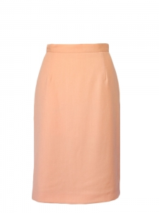 UNGARO Salmon pink high waist pencil skirt Size XS