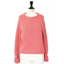 Candy pink wool-blend knit sweater Retail price €330 Size 38
