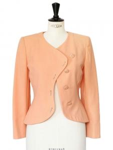 UNGARO Peach pink wool jacket Size XS
