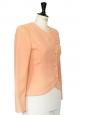Veste de tailleur UNGARO en laine rose pêche Taille 34