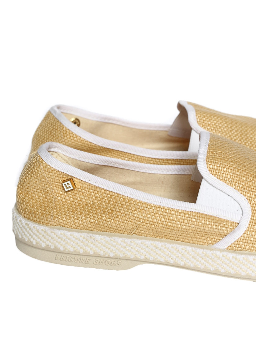 Mocassins espadrilles Montecristi en tissu beige esprit raffia Px boutique 70€ NEUVES Taille 40