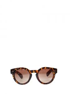 Lunettes de soleil monture rondes écaille brun et roux verre fumé marron Neuves