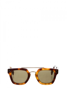 Brown tortoiseshell wayfarer bridge sunglasses Retail price €350