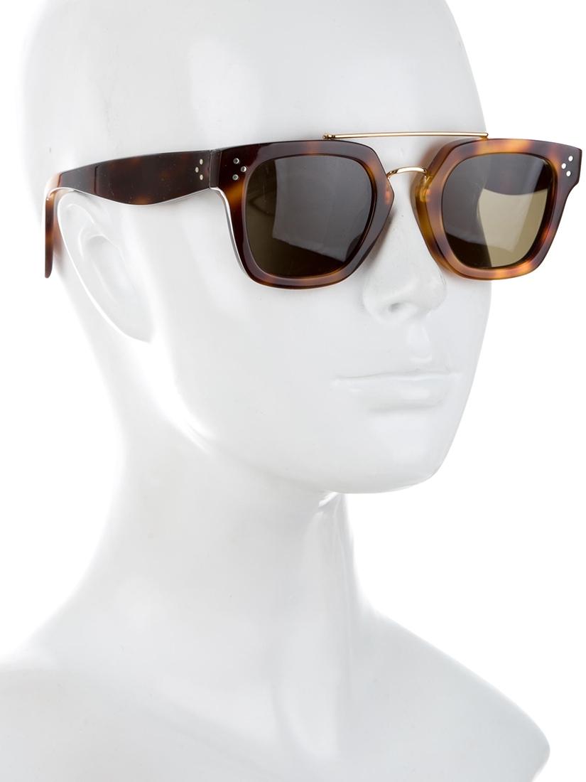 f6e2b6b0c7c Louise Paris - CELINE Brown tortoiseshell wayfarer bridge sunglasses ...