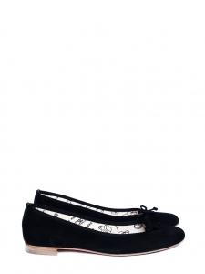 PARALLELE black suede flat ballerinas Retail price €185 Size 38