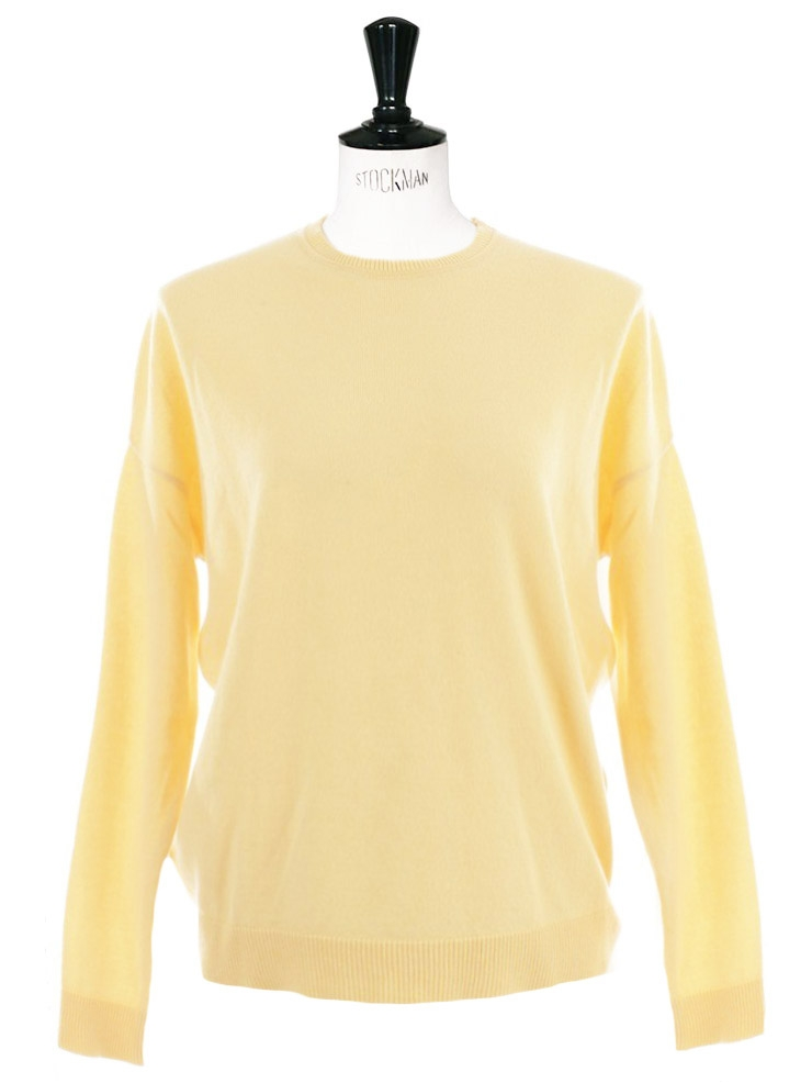 Louise Paris - MARNI Pale yellow cashmere crew neck sweater Retail ...