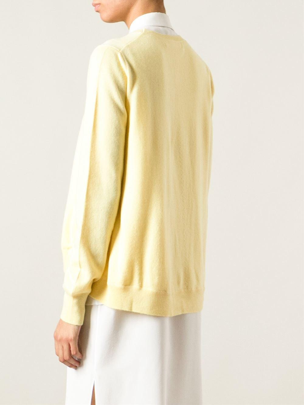 Louise Paris - MARNI Pale yellow cashmere crew neck sweater Retail ...