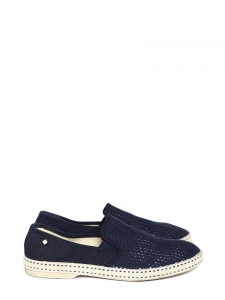 CLASSIC 20° loafers in navy blue knitted cotton NEW Retail price €60 Size 40