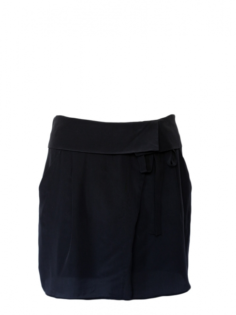 SIMON Black silk low waisted skirt NEW Retail price €110 Size 36