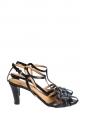 Sandales MAYA à talon et bride cheville en ayers noir Px boutique 590€ Taille 36