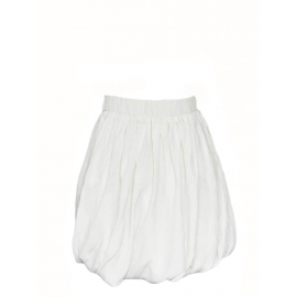 White silk chiffon high waist draped skirt Retail price €950 Size 36/38