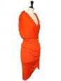 Robe de cocktail drapée orange style grecque Px boutique 2050€ Taille 38/40